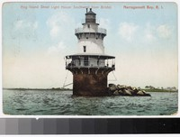 Hog Island Shoal Lighthouse, Narragansett Bay, Rhode Island, 1907-1909