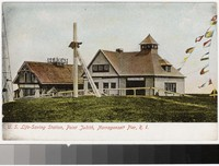 U. S. Life-saving station, Point Judith, Narragansett Pier, Rhode Island, 1907-1914