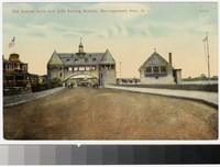 Old casino arch and lifesaving station, Narragansett Pier, Rhode Island, 1907-1914