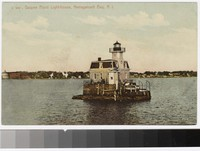 Gaspee Point Lighthouse, Narragansett Bay, Rhode Island, 1907-1914