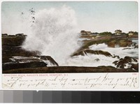 Spouting Rock, Bailey's Beach, Newport, Rhode Island, 1901-1907