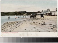 Bathing beach, Newport, Rhode Island, 1901-1907