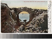 Stone arch on the cliffs, Newport, Rhode Island, 1901-1907