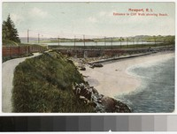 Entrance to Cliff Walk, Newport, Rhode Island, 1907-1908