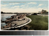 Along the Cliff Walk, looking North from Lands End, Newport, Rhode Island, 1907-1914