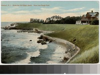 Along the Cliff Walk, South, view from Rough Point, Newport, Rhode Island, 1907-1914