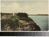Cliff Walk, looking north, Newport, Rhode Island, 1907-1914