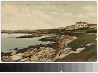 Cliff Walk looking north to Spouting Rock Beach, Newport, Rhode Island, 1907-1909