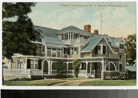 Residence of Nathaniel T. Bacon, Peace Dale, Rhode Island, 1907-1914
