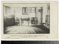 Parlor in Daggett House, Daggett Park, Pawtucket, Rhode Island, 1906