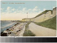 Fort Adams, view along Shore Drive, Newport, Rhode Island, 1907-1914