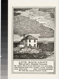 Lime Rock Light, Newport, Rhode Island, 1928-1940