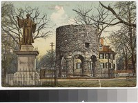 Old Stone Mill and William Ellery Channing Monument, Newport, Rhode Island, 1907-1910