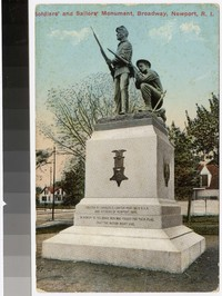 Soldiers' and Sailors' Monument, Broadway, Newport, Rhode Island, 1907-1914