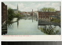 Pawtucket River above falls, Pawtucket, Rhode Island, 1901-1907