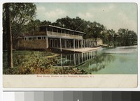Boathouse at Rhodes, on the Pawtuxet, Pawtucket, Rhode Island, 1901-1907