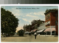 East side of public square, Sidney, Ohio, 1907-1914