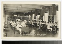 Inside the library at the United States Naval Training Station, Newport, Rhode Island, 1915-1930