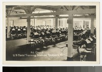 Inside the dining hall at the United States Naval Training Station, Newport, Rhode Island, 1915-1930