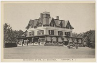 Residence of Mr. William Gammell, Newport, Rhode Island, 1915-1930