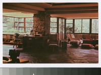 Living room, Fallingwater, Mill Run, Pennsylvania, 1964-1970