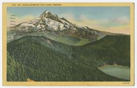 Mount Hood Showing Lost Lake, Oregon, undated