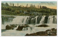 Williamette Falls, Oregon on the S.P.R.R. Shasta Route, circa 1907-1914