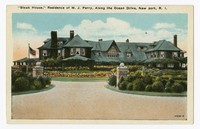 """Bleak House,"" Residence of M. J. Perry, Along the Ocean Drive, Newport, Rhode Island, 1915-1930"
