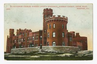 Ex-Governor Charles Warren Lippet's Residence, Norman Castle, Ledge Road, Newport, Rhode Island, 1907-1914