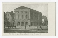 Old Newport Theatre, Built in 1736, Newport, Rhode Island, 1915-1930