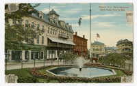 Newport, Rhode Island, Perry House and Opera House, from the Mall, 1907-1914