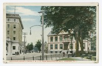 Old State House & Naval Y.M.C.A. from Washington Mall, Newport, Rhode Islad, 1915-1930
