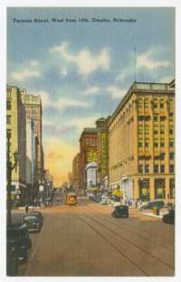 Farnam Street, west from 14th, Omaha, Nebraska, 1930-1951