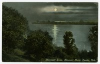 Moonlight scene, Missouri River, Omaha, Nebraska, 1907-1914