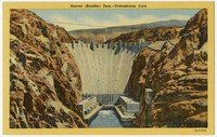 Hoover (Boulder) Dam, downstream face, Boulder City, Nevada, 1930-1944