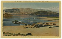 Lake Mead Boat landing, Boulder Dam, near Boulder City, Nevada, 1930-1950