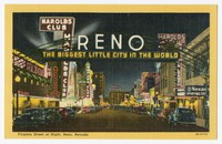 Virginia Street at night, Reno, Nevada, 1930-1950