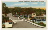 Main Street, Alton Bay, New Hampshire, McGrath's General Store at right, 1915-1930