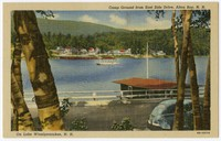 Camp Ground from East Side Drive on Lake Winnipesaukee, Alton Bay, New Hampshire, 1930-1950