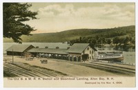 Old Boston & Maine Railroad station and steamboat landing, Alton Bay, New Hampshire, 1906-1907