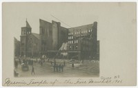 Masonic Temple after fire, Dover, New Hampshire, 1906