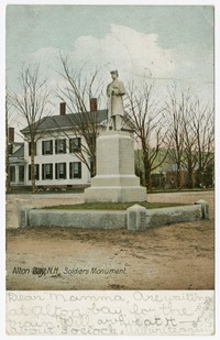 Soldiers Monument, Alton Bay, New Hampshire, 1901-1907