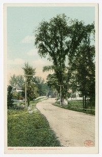 Street in Alton Bay, Lake Winnipesaukee, New Hampshire, 1915-1930