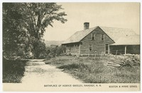 Birthplace of Horace Greeley, Amherst, New Hampshire, 1907-1914
