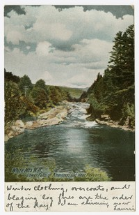 White Mountains, Lower Falls of Ammonoosuc near Fabayan, New Hampshire, 1901-1907