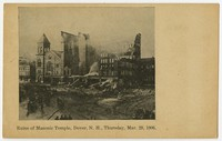 Ruins of Masonic Temple, Dover, New Hampshire, 1906
