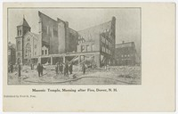 Masonic Temple, morning after fire, Dover, New Hampshire, 1901-1907