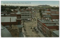 Bird's-eye view from Opera House Tower, Dover, New Hampshire, 1907-1914
