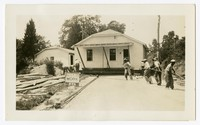 WPA Project No. 182, workers move a caretaker's cottage, St. Mary's County, Maryland, July 8, 1936