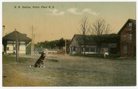 R.R. Station, Potter Place N.A., Andover, New Hampshire, 1907-1914